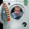 Baby in a Washing Machine Picture Caption