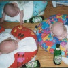 Three Drunk Babies Picture Caption